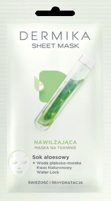 Dermika Sok aloesowy–nawilżająca maska na tkaninie
